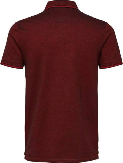 Selected homme polo Twist bordeauxrood
