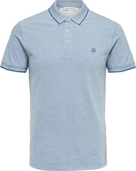 Selected homme polo Twist lichtblauw