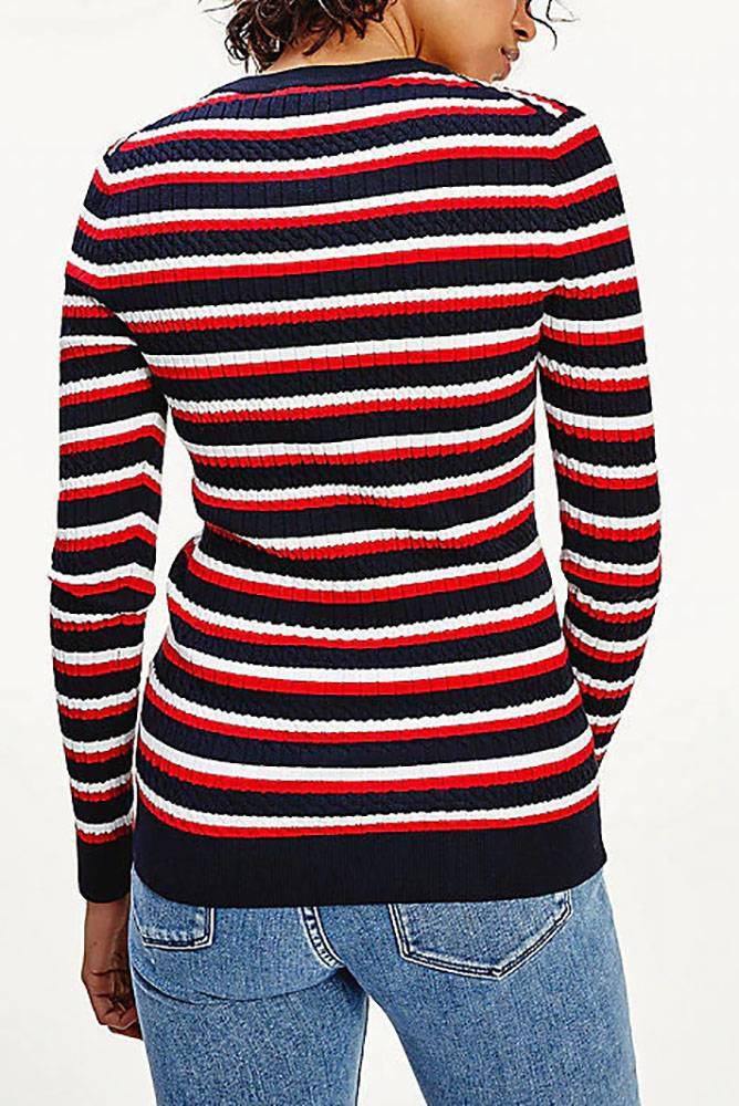 Tommy Hilfiger Trui New Th Essential Cable Multi Pullovers